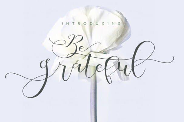 Download Be Grateful Script font (typeface)