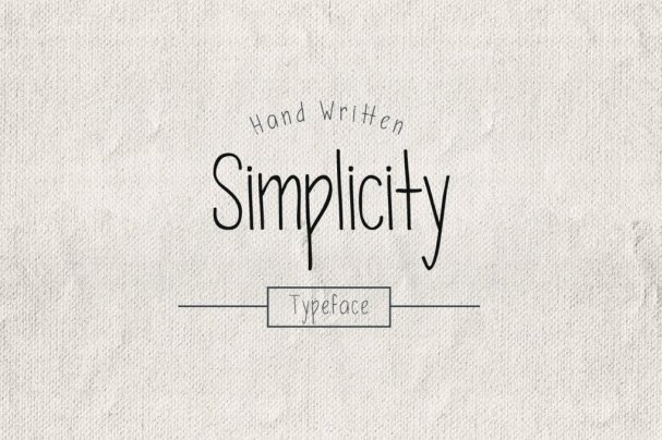 Download Simplicity Typeface font (typeface)