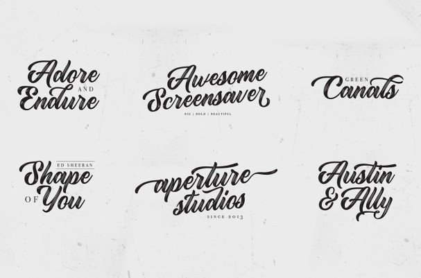 Download Rustling Trees font (typeface)