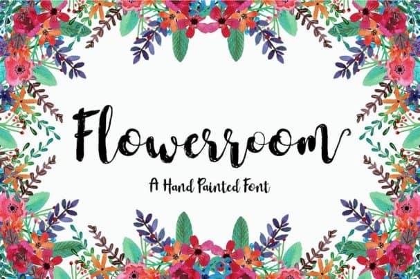 Download Flowerroom Script font (typeface)