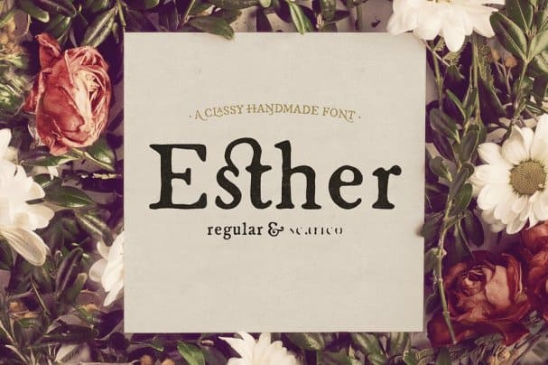 Download Esther Handmade font (typeface)