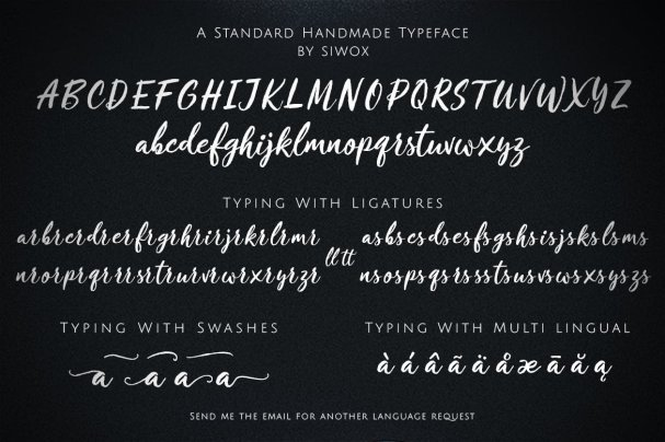 Download Crushine Wet Brush font (typeface)