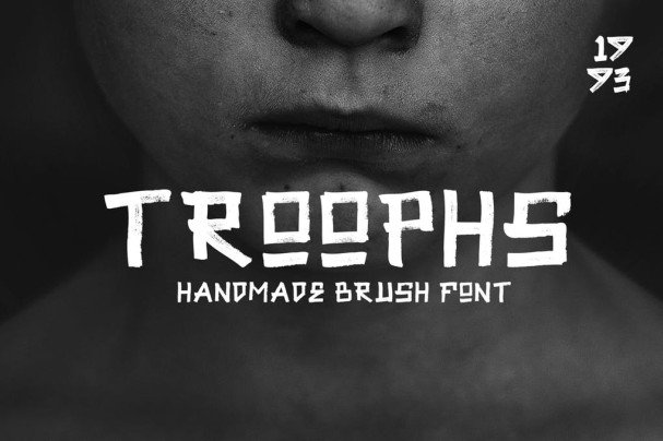 Download Troophs - Brush Fonts font (typeface)