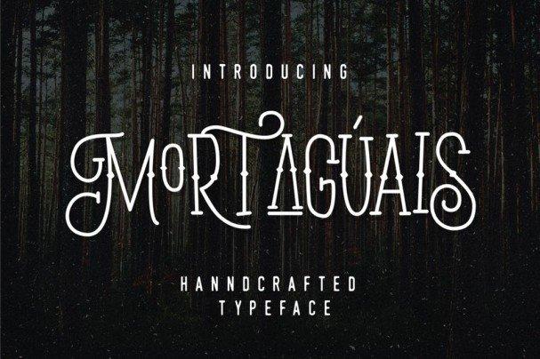 Download Mortaguais font (typeface)