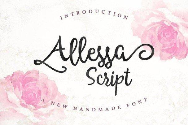Download Allessa Script font (typeface)