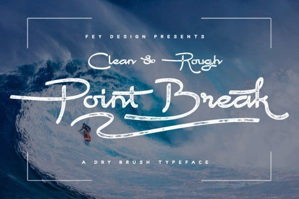 Download Point Break - Clean And Rough font (typeface)