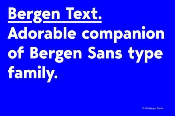 Download Bergen Text font (typeface)
