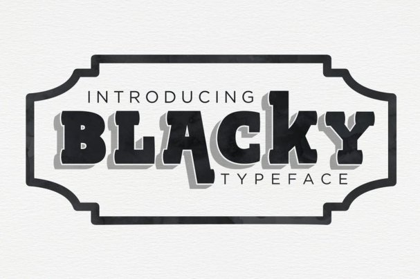 Download BLACKY Typeface font (typeface)