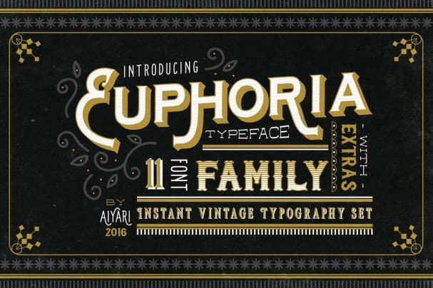 Download Euphoria Font Family font (typeface)