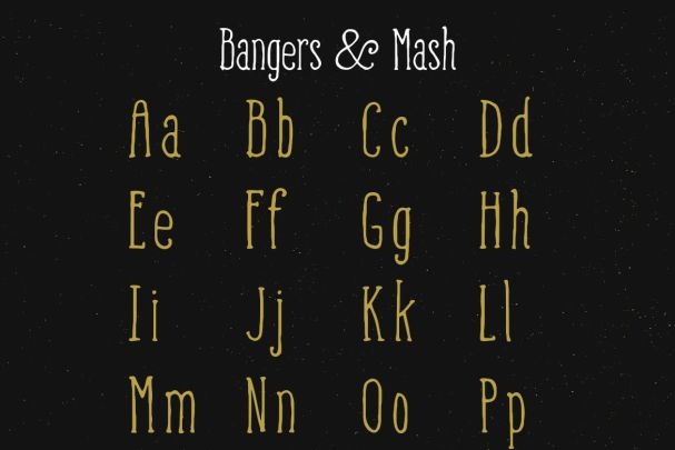 Download Bangers and Mash font (typeface)