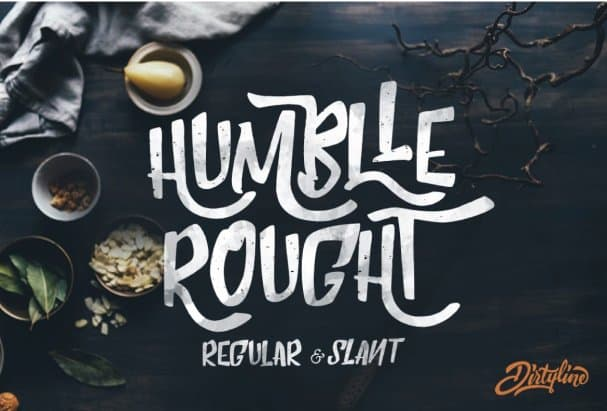 Download Humblle Rought - Font Duo font (typeface)