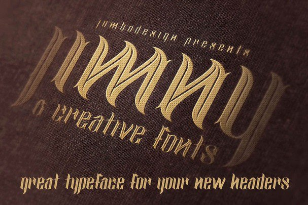 Download Jimny - Creative Style Font font (typeface)