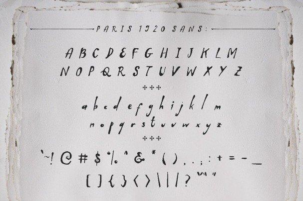 Download Paris 1920 font (typeface)