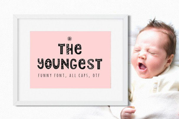 Download The Youngest Font font (typeface)