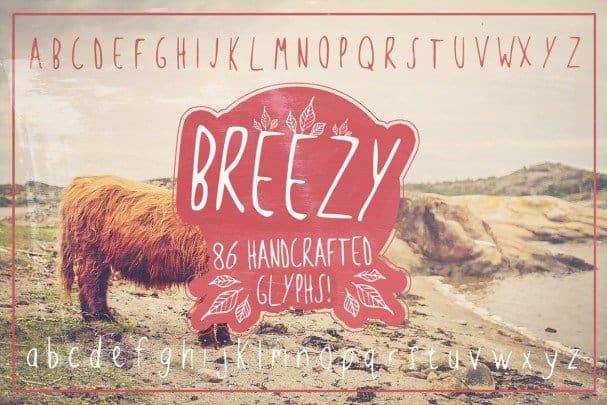 Download Breezy Handsketched Font font (typeface)