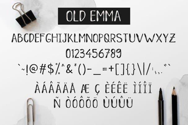 Download Old Emma font (typeface)