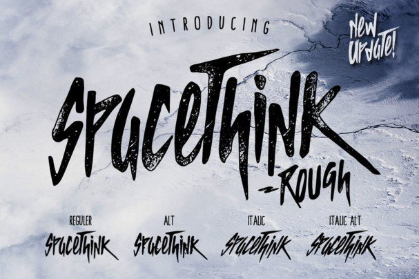 Spacethink Typeface