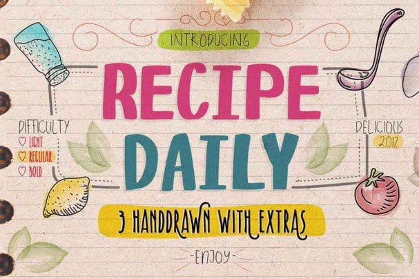 Download Recipe Daily Typeface font (typeface)