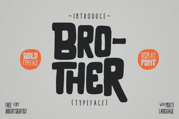 Download Brother Typeface font (typeface)