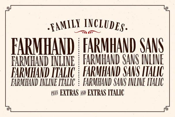 Download Farmhand Family font (typeface)