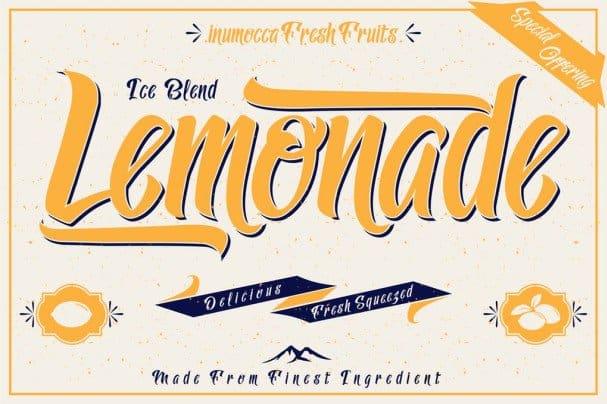 Download Lemonade font (typeface)