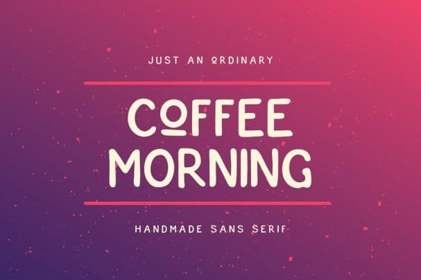 Download Coffee Morning Sans font (typeface)