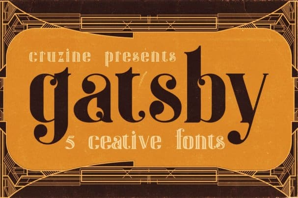 Download Gatsby - Art Deco font (typeface)