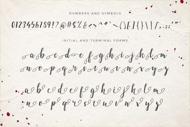 Download Emellie Script font (typeface)