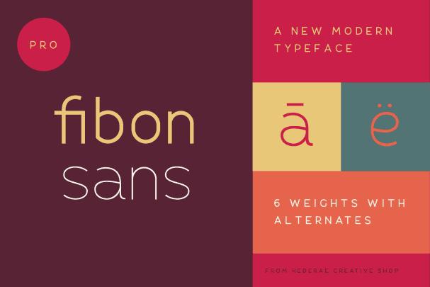 Download Fibon Sans font (typeface)