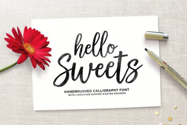 Download Hello Sweets Script font (typeface)