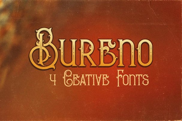 Download Bureno - Decorative font (typeface)