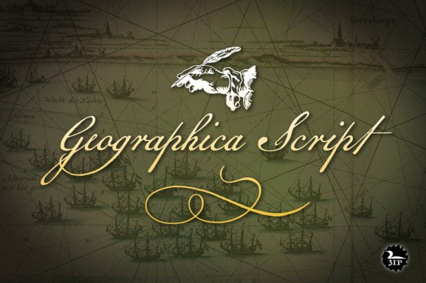 Download Geographica Script font (typeface)