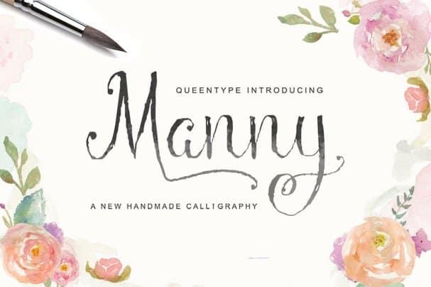 Download Manny Script font (typeface)