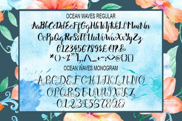 Download Ocean Waves Brush Font Duo font (typeface)