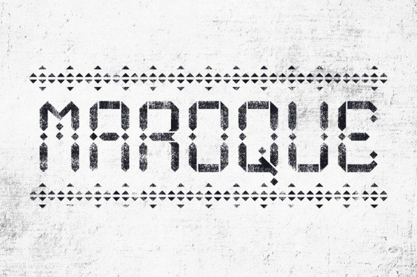 Download Maroque Stencil font (typeface)
