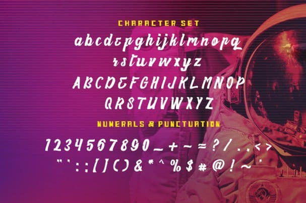 Download Haynthams Spacescript 2 in 1 font (typeface)