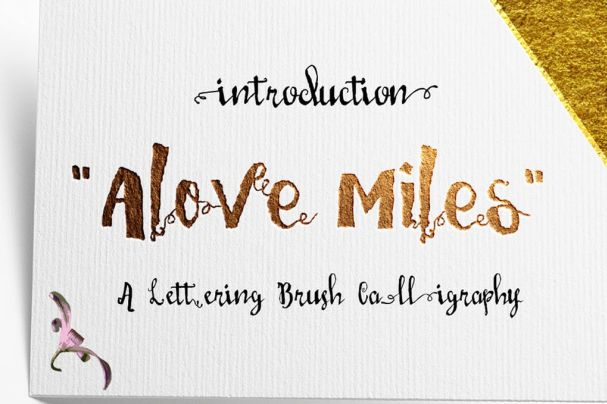 Download Love Mile font (typeface)