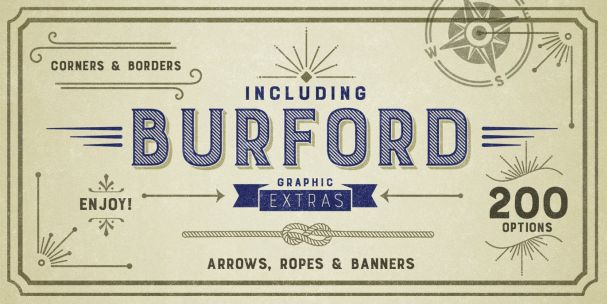 Download Burford Extrude A font (typeface)