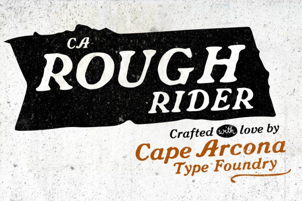 Download CA Rough Rider font (typeface)