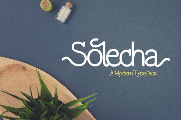 Download Solecha font (typeface)