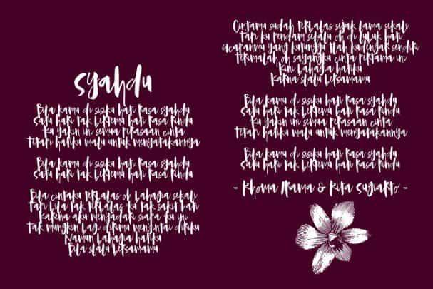 Download Syahdu Font font (typeface)