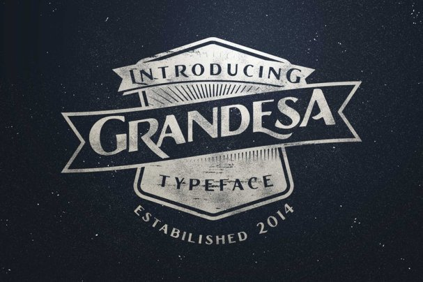Download Grandesa Typeface font (typeface)