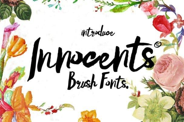 Download Innocents Brush script font (typeface)
