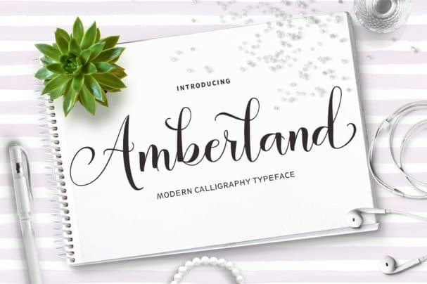 Download Amberland Script font (typeface)