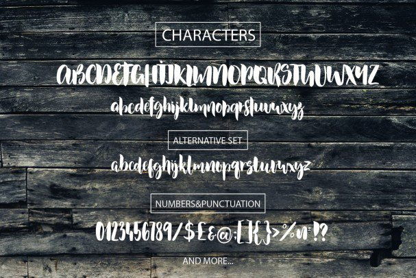 Download Dusty Lane Brush font (typeface)