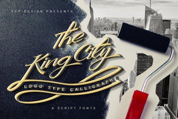 Download King City - Script font (typeface)