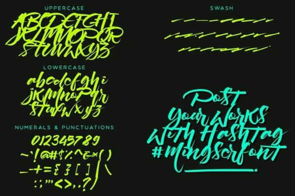 Download Mingser font (typeface)
