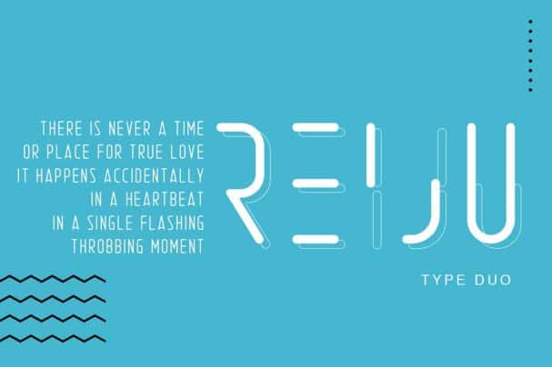 Download Reiju   Typeface Duo font (typeface)