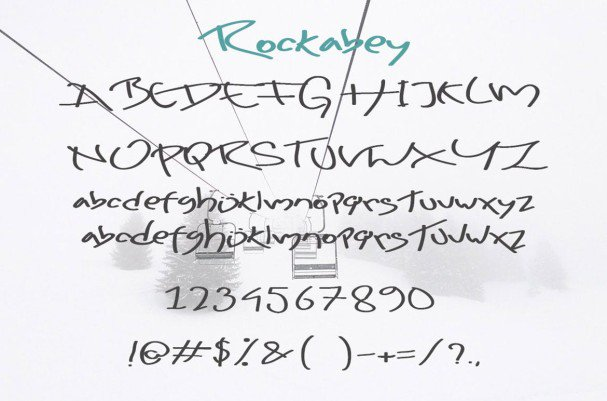 Download Rockabey font (typeface)