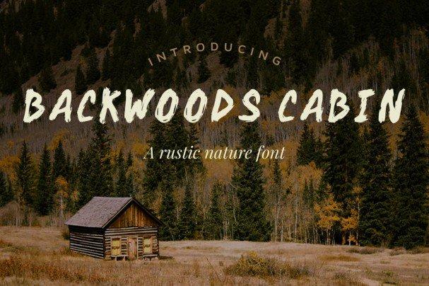 Download Backwoods Cabin font (typeface)